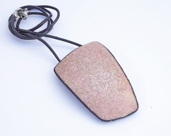 Necklace granite imitation in polymer clay, Lilac pendant, trapece necklace, geometric lilac necklace, exclusive polymer clay necklace lilac