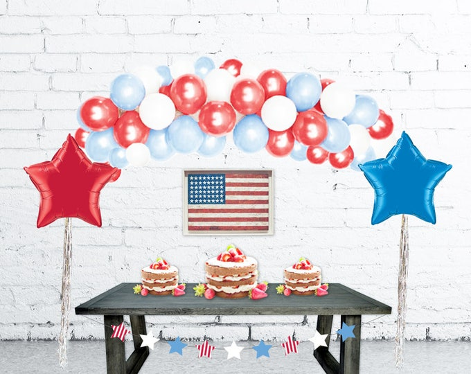 4th of July Decorations Balloon Arch, Balloon Garland, DIY Balloon Garland Kit, Balloon Arch, Patriotic Decor, Fourth of July Decorations
