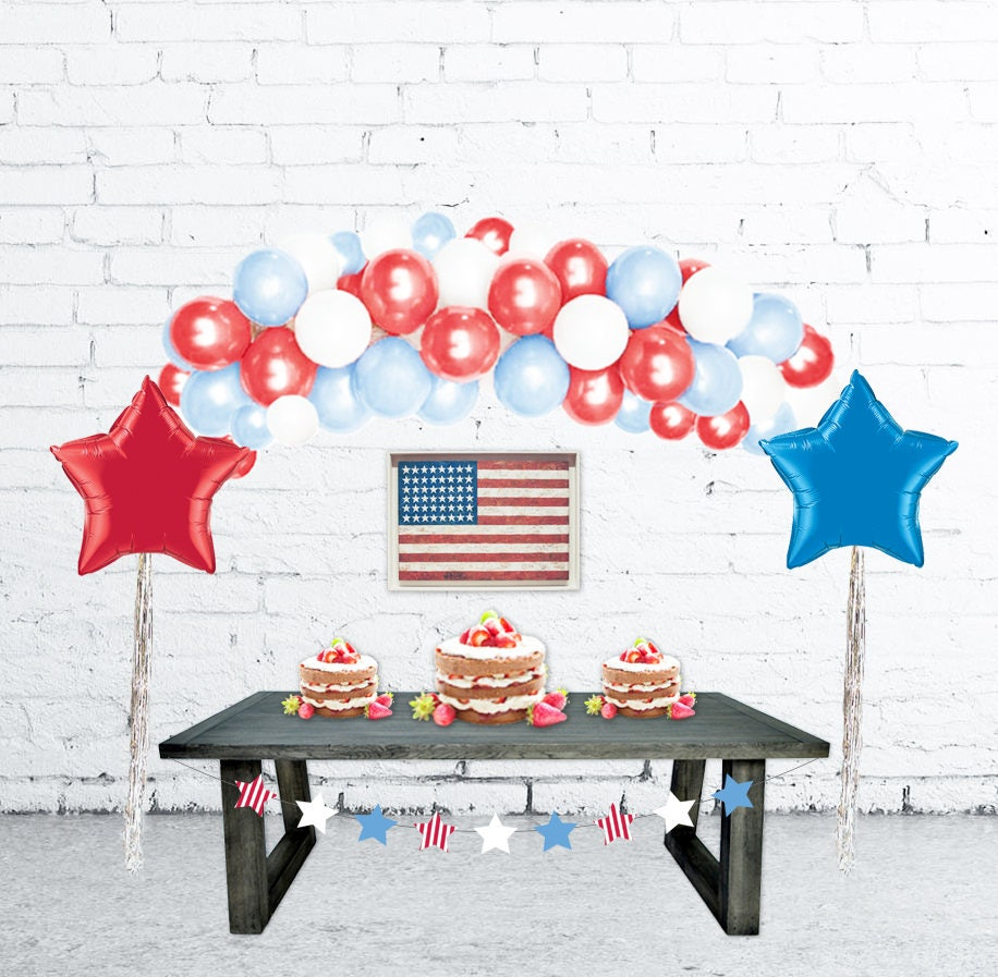 Balloon Bouquet Delivery Balloon Decorating 866 340 - 4th of july decorations balloon arch balloon garland diy balloon garland kit balloon arch patriotic decor fourth of july decorations