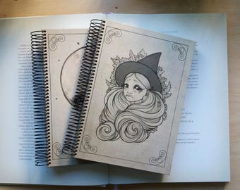 """Hardcover Notebook A5 """"Sketch Witch"""" 15 x 21 cm // 5 x 8"""""""