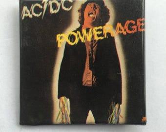 AC/DC Powerage Original NOS Vintage 80s Square Pin