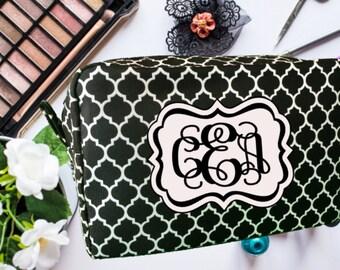 Makeup Bag, Cosmetic Bag, Personalized Makeup Bag, Bridesmaid Gift, Birthday Gift, Monogrammed Makeup Bag, Mother's Day Gift