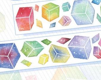 Colorful square washi tape
