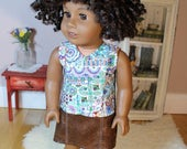 "Wrapped Linen Tank for American Girl or 18"" Doll"