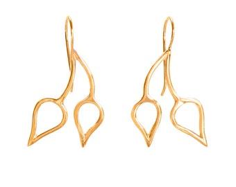 14KY Gold Double Dewdrop Earring