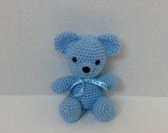 Crochet Blue Bear