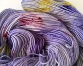 Secrets & Irises - Hand Dyed Sock Yarn - 80 sw merino/20 nylon