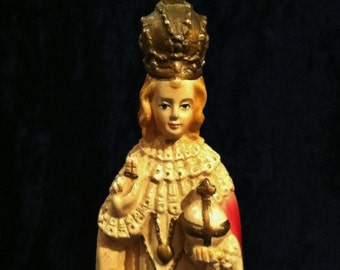 Antique  Chalkware Infant Of Prague