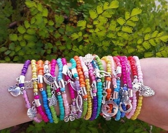 friendship bracelet - bulk Bracelets - Boho Chic - stretch bracelets - layering jewelry - bohemian bracelets - festival jewelry - beaded