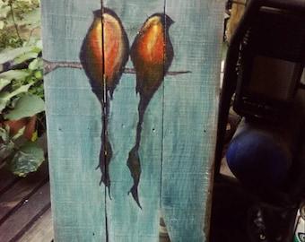 Sparrow Painting Pallet Art