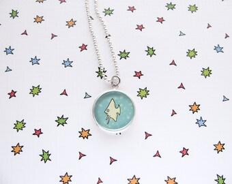 Fish Necklace, Cute Angel Fish Pendant, Ocean Accessories, Sea Jewelry, Aquarium Fish, Funny Fish, Pet Lover Gift