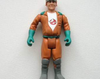 SALE Vintage Ghostbusters Figure, Ray Stantz, Screaming Heroes, 1987, miniature, sandplay, play therapy