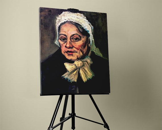Head of an Old Woman with White Cap (The Midwife) | van Gohn Mirror Wrap Canvas