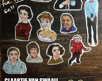 Claartje van Swaaij loves Twin Peaks sticker set (10 stickers)