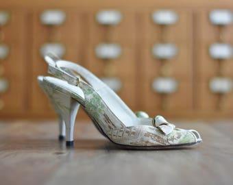Vintage Peep Toe Heels