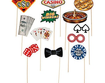 Cards Night Photo booth props / Casino / Casino theme / Casino Party / Cards night / poker night / Poker/ Props / Photo booth