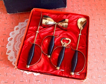 Vintage Japan utensils bar set in original box