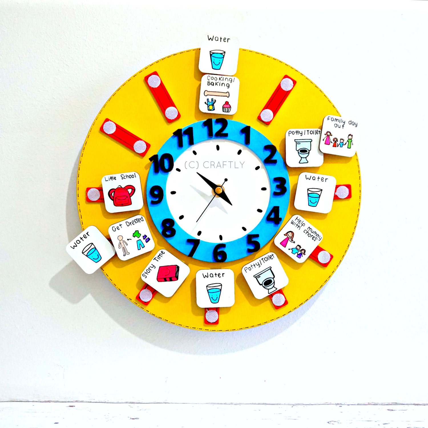 Worksheet Kids Learning Clock learning clock etsy childrens routine visual timetable kids chart time teachers schools autism educational