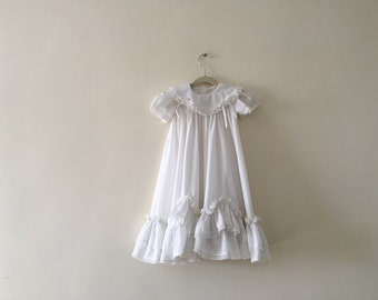 Vintage Swiss Dot Christening Gown 6-9 months