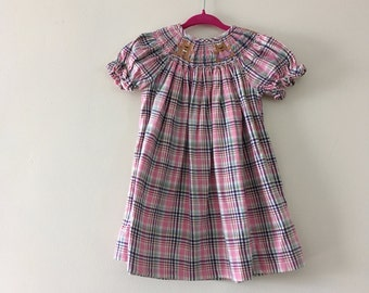 Hand Smocked Bears Boutique Dress - size 3-6m