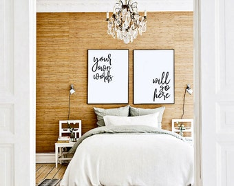 CUSTOMIZED Quote Prints! [Bedroom Above Bed Art, Cute Prints, Print Pack, Lyric Art, Large Artwork, 2 Prints]