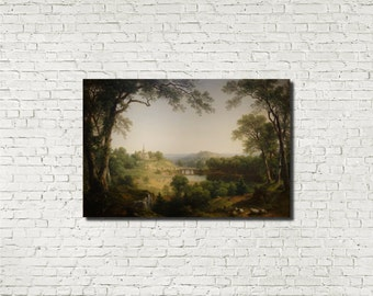 Asher Brown Durand, American Old Masters Fine Art Print : Sunday Morning, Classical Art Iconic Landscape Painting