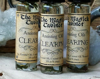 Clearing Oil, Metaphysical, Wicca, Perfume Oil, Fragrance Oil, Scented Oils, Perfume, Anointing Oil, Apothecary, Essential Oil Blends
