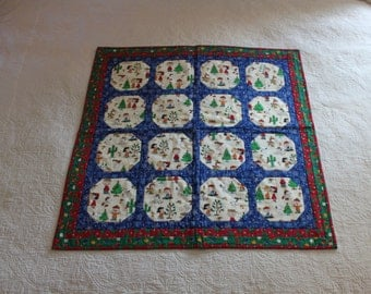 701 Christmas Peanuts Baby Quilt