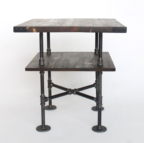 Industrial Tv Stand And Coffee Table: End Table Nightstand Industrial Night Stand Side Table