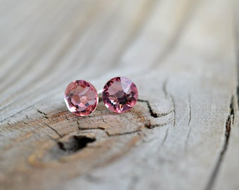 Rose Crystal Earrings with Hypoallergenic Nickel-Free Setting Genuine, Stunning Handmade Swarovski Perfect for Gifting or Personal Wear