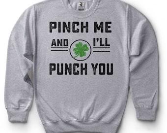 St Patrick's Day Sweatshirt Funny Drinking Irish Party Sweater