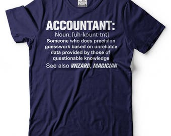 Accountant T-shirt Guesswork Definition Noun Accounting T-shirt Gift for dad Gift for Mom CPA T-shirt Funny T-shirt Birthday Gift