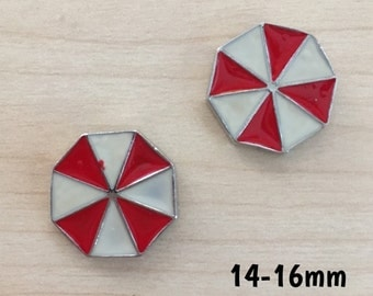 14mm-16mm Resident Evil Umbrella Corporation logo plugs for stretched ears
