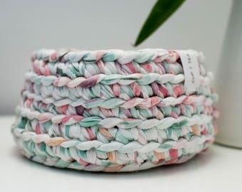 Multipurpose Crochet Basket . Spring | Multipurpose Basket | Bowl | Yarn Basket | Crochet Bowl | Crochet Basket | Handmade | Crochet Storage