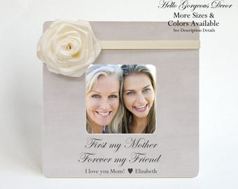 Gift for Mom Mother Birthday Gift from Daughter Picture Frame Personalized Gift to Mom from Son Child Custom Photo Frame Mother Gift Ideas
