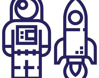 Astronaut Sticker / Astronaut Decal for Yeti Tumbler / Astronaut Car / Laptop Sticker