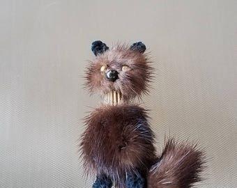 """Vintage Mink Fur Kitty Cat  Brooch Pin 3 """""""