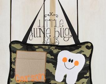 Camo Tooth Fairy Pillow, Boy/Girl Tooth Fairy Pillow, Personalized Camo Tooth Fairy Pillow, Little Boy/Girl Personalized Tooth Fairy Pillow