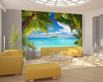 Photo Wallpaper Wall Murals Non Woven 3D Modern Art Paradise Sea Beach Wall  Decals Bedroom Decor Part 46