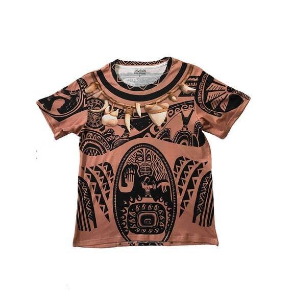 Men 39 s maui moana inspired shirt for Maui shirt tattoo