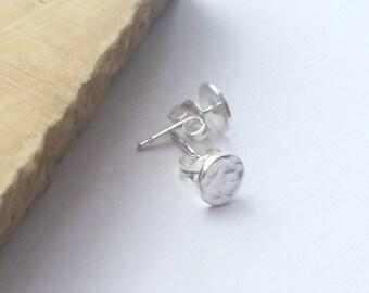 Hammered Earrings, Minimal Earrings, Hammered Silver Earrings, Small Stud Earrings, Unisex Jewellery, Couples Jewellery, His and Hers