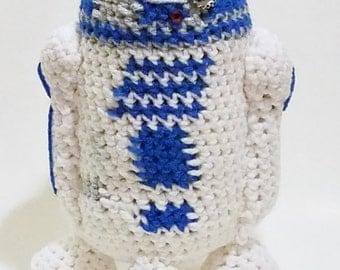 Amigurumi Crochet Star Wars Inspired R2D2