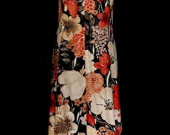 A 60's Floral Hostess Dress             VG264