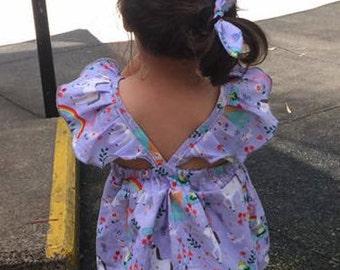 Ava Flutter Sleeve Spring / Summer Girls Shirt