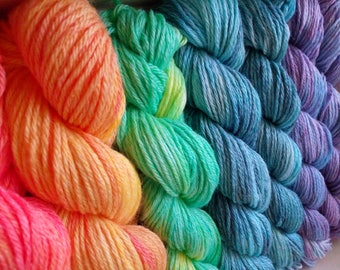 Hand-dyed yarn. Kit socks.