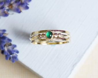 Emerald Ring, Gold Ring, Stacking Ring, Birthstone Ring, Solid Gold Ring, 9ct Gold Ring, Emerald Gold Ring, Stacking Ring, Dainty Gold Ring
