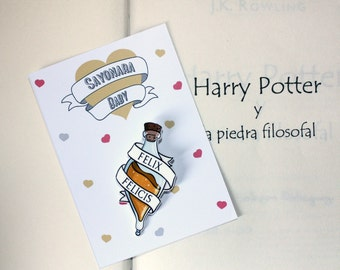 Harry Potter Brooch, Felix Felicis Brooch, Harry Potter Pin
