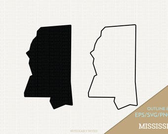 Mississippi Vector, State Clipart, MS Clip Art, Mississippi SVG, State PNG  (Design 13733)