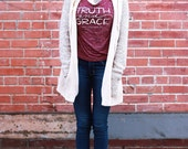 Truth and Grace Slouchy Women's Tee // proceeds aid victims of sex trafficking