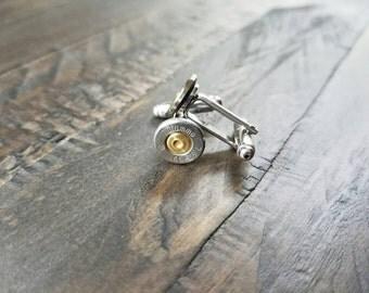Handmade AK47 7.62x39 Spent Bullet Cuff Links Bullet Cufflinks  Men's Accessories